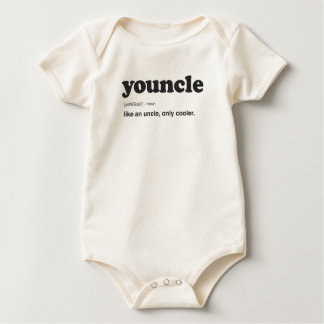 Funny Youncle Definition Print Baby Bodysuit