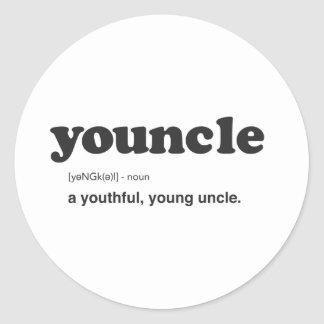Funny Youncle Definition Print Classic Round Sticker