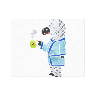 Funny zebra. canvas print