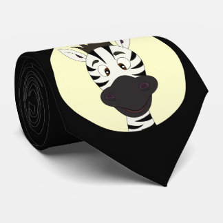 Funny zebra cartoon black tie