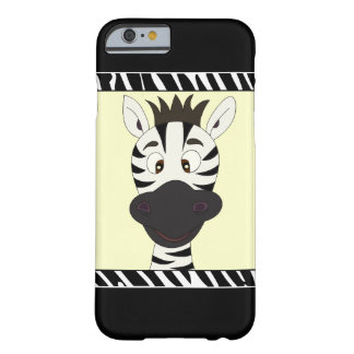 Funny zebra cartoon kids barely there iPhone 6 case