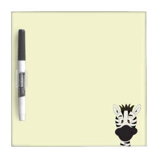 Funny zebra cartoon kids Dry-Erase whiteboard