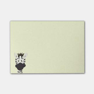 Funny zebra cartoon kids post-it® notes