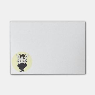 Funny zebra cartoon yellow kids post-it notes