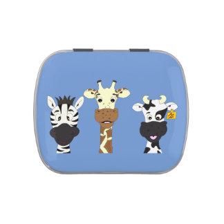 Funny zebra giraffe cow cartoon kids