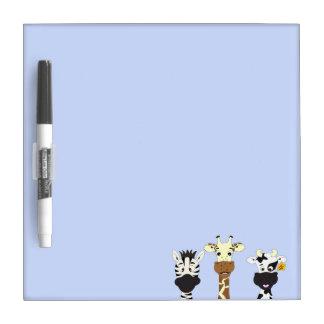 Funny zebra giraffe cow cartoon kids Dry-Erase boards