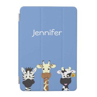 Funny zebra giraffe cow cartoon kids iPad mini cover