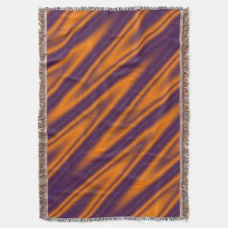 Funny ZigZag Waves orange violet + your idea Throw Blanket