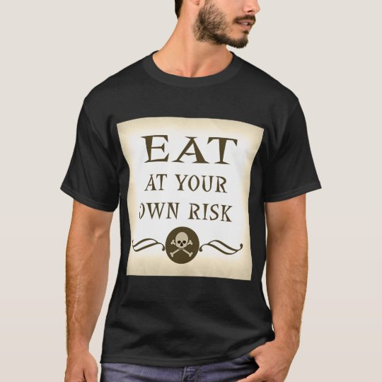 Funny Zombie Halloween Eat At Your Own Risk T-Shirt