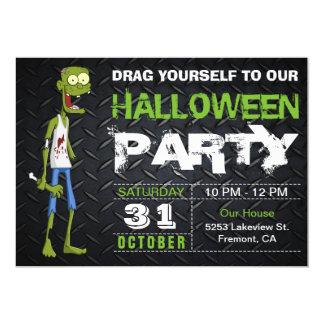 Funny Zombie Halloween Party Invitation