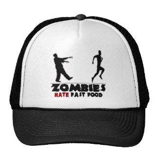 Funny Zombies Fast Food Trucker Hat