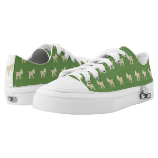 FunnyLittle Goat Pattern Low-Top Sneakers