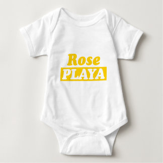 Funy Rose Playa Golden Baby Bodysuit