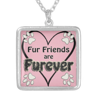 Fur Friends are Furever! Silver Plated Necklace