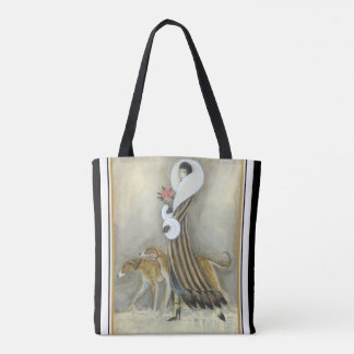 Fur & Greyhounds Art Deco Tote