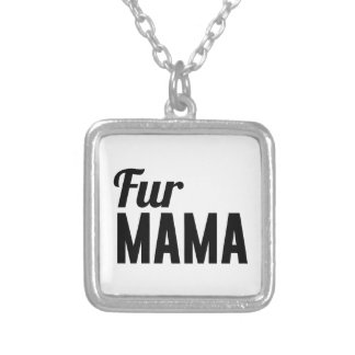 Fur Mama Silver Plated Necklace