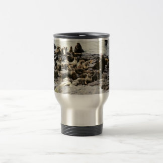 Fur Seal Colony at Haulout Travel Mug