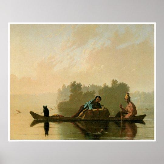Fur Traders Descending the Missouri c. 1845 Poster