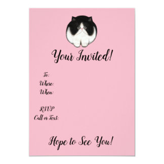 Furball Cat Kitten Invitations Customize