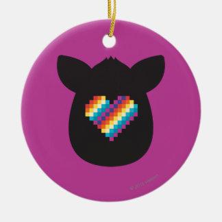 Furby Heart Ceramic Ornament
