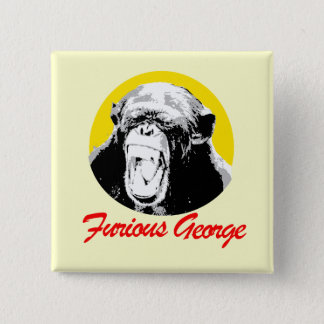 Furious George 2 Inch Square Button