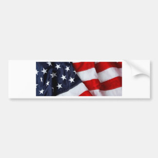 Furled and Folded American Flag Red white Blue Bumper Sticker