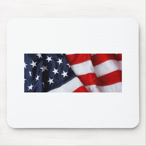 Furled and Folded American Flag Red white Blue Mouse Pad