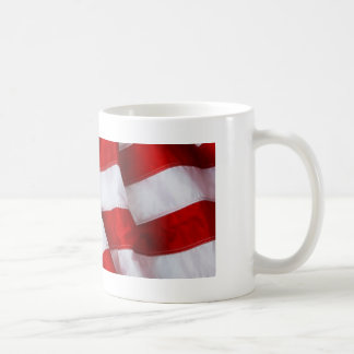 Furled and Folded American Flag Red white Blue Mugs