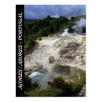 Furnas hot springs postcard