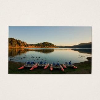 Furnas lake at sunset business card