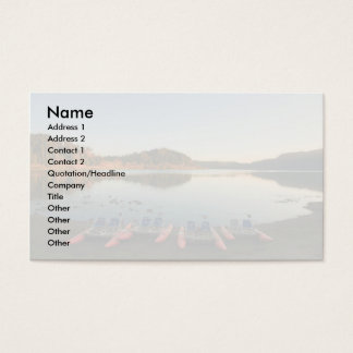 Furnas lake at sunset business card