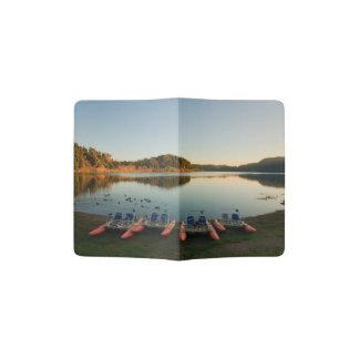 Furnas lake at sunset passport holder