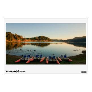 Furnas lake at sunset wall sticker