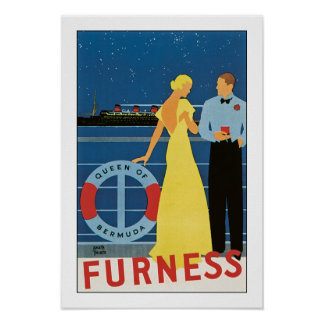 Furness Line's Queen of Bermuda Poster