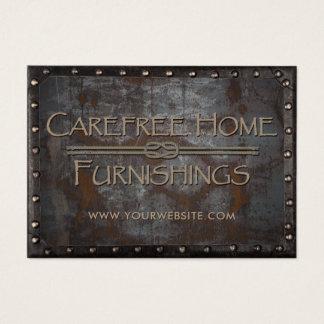 Furnishings Rusty Metal Framed Vintage Business Card