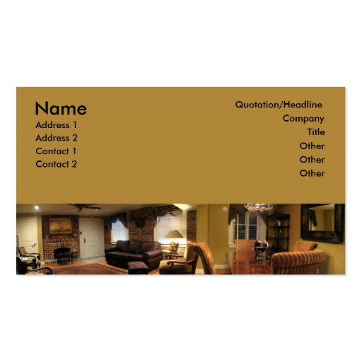 Furniture Interior Design Business Card Template Zazzle