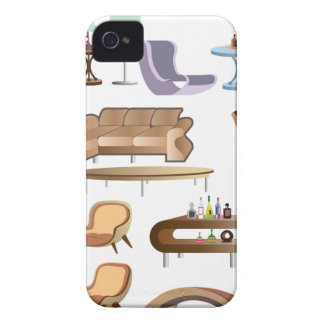 Furniture_Set_Collection iPhone 4 Case