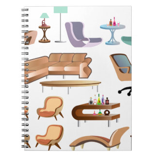 Furniture_Set_Collection Spiral Notebook