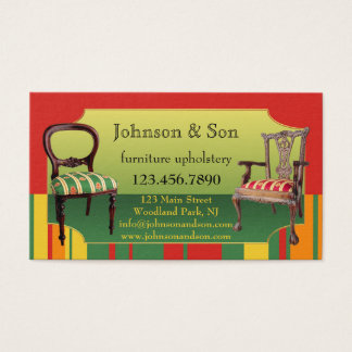Furniture Upholstery Business Card