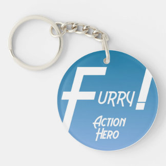 Furry Action Hero! Keychain