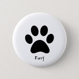 Furry badge 2 inch round button