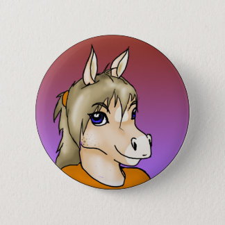 Furry Buttons: Melody 2 Inch Round Button