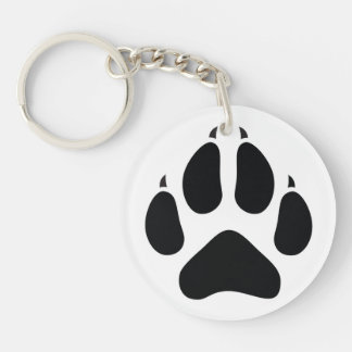 Furry Fandom Single-Sided Round Acrylic Keychain
