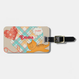 Furry Friends Kitty Cat Luggage Tag