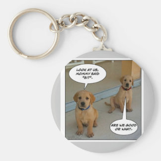 "Furry Funnies ""LAB PUPS?"" Keychain"