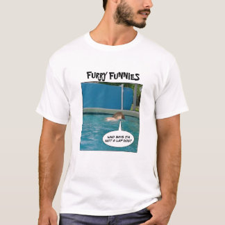 "Furry Funnies ""Lap Dog?"" T-Shirt"