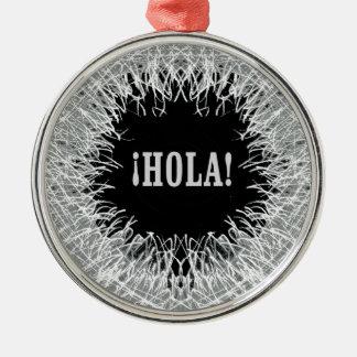 Furry Hola Metal Ornament