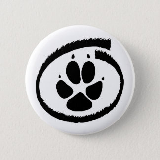 Furry Inside (Fox Paw) Badge 2 Inch Round Button