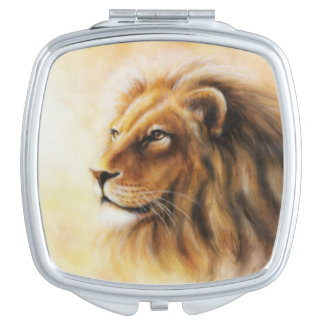Furry Lion Makeup Mirrors