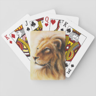 Furry Lion Playing Cards